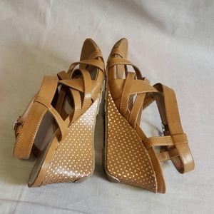 """Covington Shoes - Covington Sandals Tan Size 10 M Strappy Heels 3.5"""""""